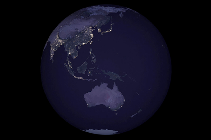 Sunlive earth shines bright in new nasa map the bays news first earth shines bright in new nasa map sciox Choice Image