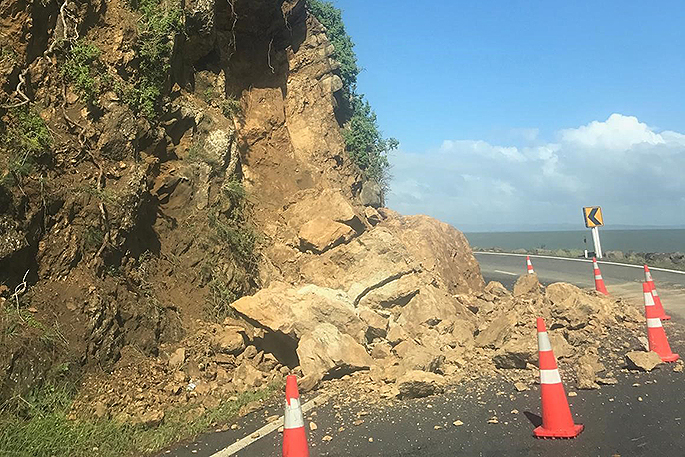 Rock Blasting Service : Sunlive thames highway closed for rock blasting the