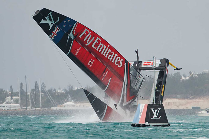New Zealand beat Sir Ben Ainslie's British team in America's Cup semi