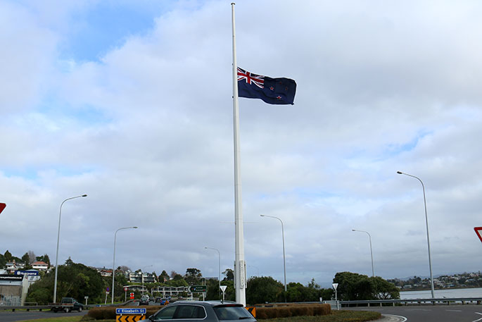 Newsie - Flag flying at half-mast for fallen Pacific leader - The