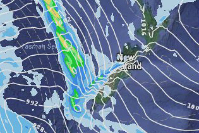 Gita making landfall in South Island