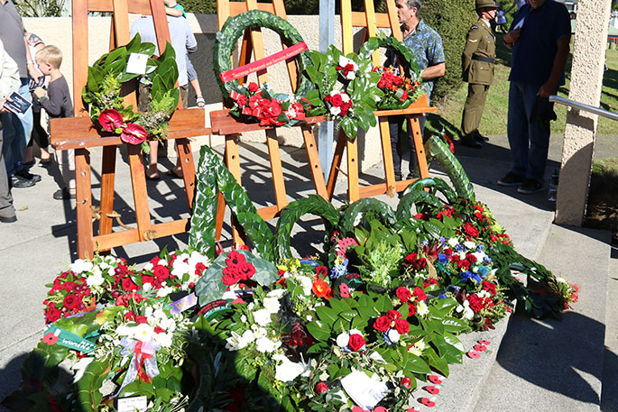 Anzac Memorial Service today in Weymouth