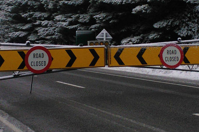 Newsie - Desert Road closed due to snow - The Nation's Local