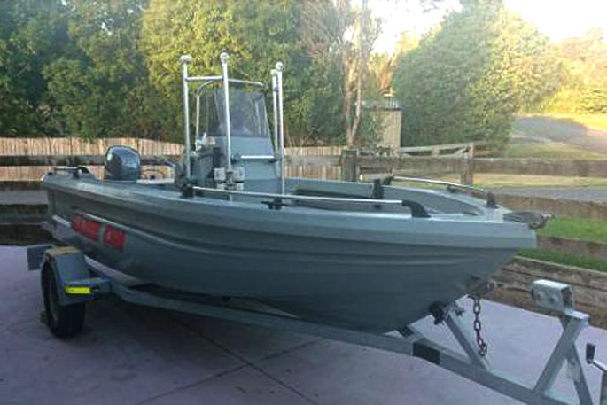 Boat stolen from Tauranga property