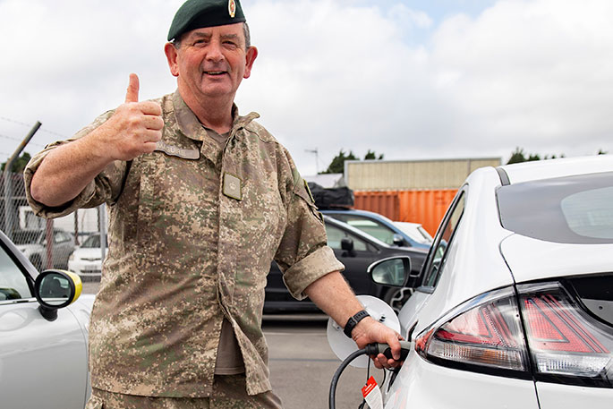Defence Force plugs into electric vehicles