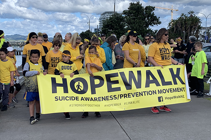 SunLive - Walking for hope - The Bay's News First